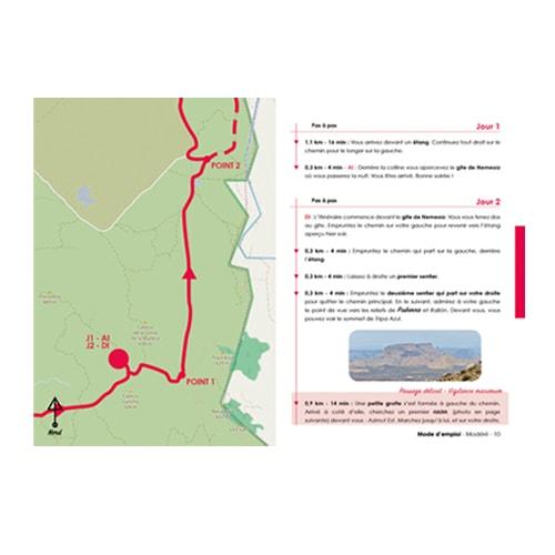 itinéraire de randonnée pour marcher en autonomie dans le désert des Bardenas en Espagne.