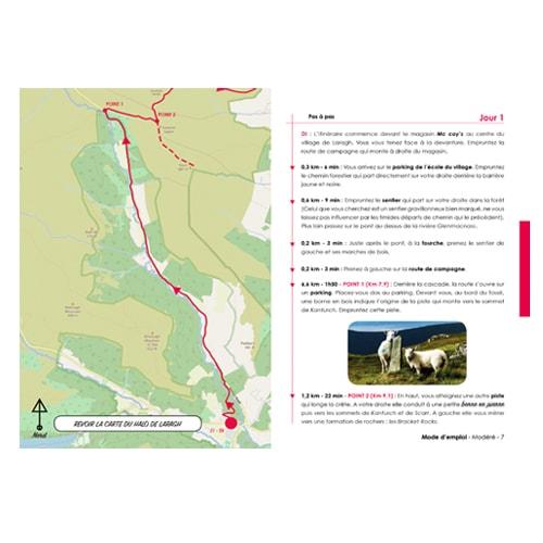itinéraire de randonnée pour marcher en autonomie dans les montagnes de Wicklow en Irlande.