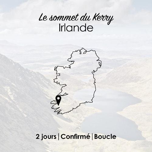 Circuit de randonnée pour marcher en liberté dans les montagnes du Kerry en Irlande.