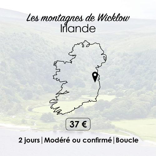 Circuit de randonnée pour marcher en liberté dans les montagnes de Wicklow en Irlande.